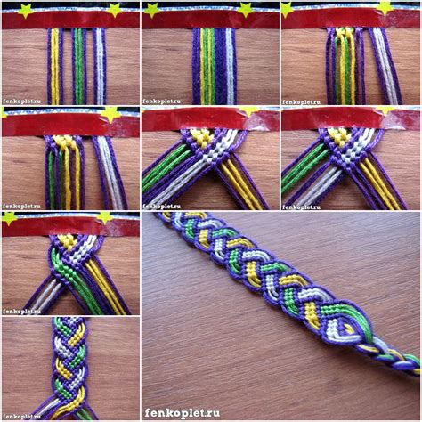 how to diy friendship bracelet leaves pattern with