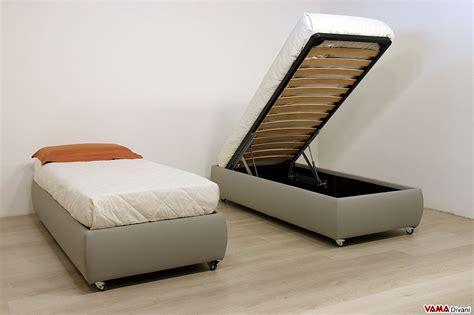 letto contenitore singolo letto con contenitore singolo senza testata anche su misura