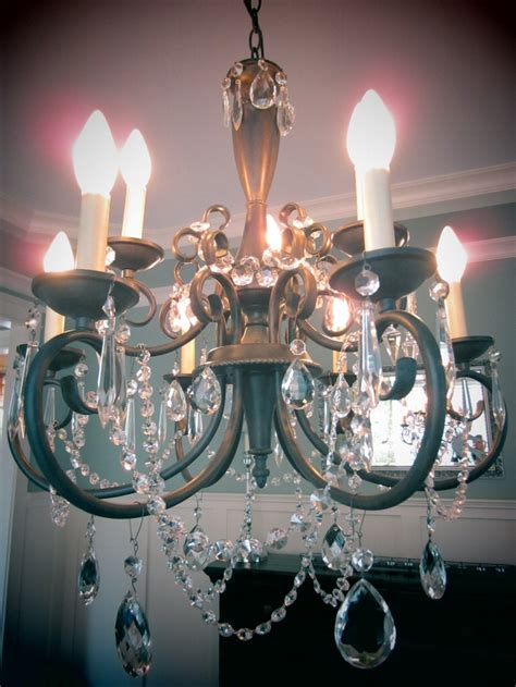 Wire Chandelier Diy Diy Chandelier I Used Vintage Crystals And Earring Wire Craft Ideas Pinterest