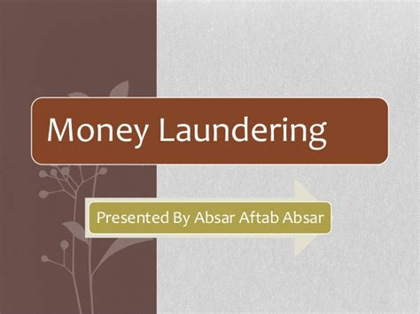 Mba Concentration Anti Money Laundering by Money Laundering