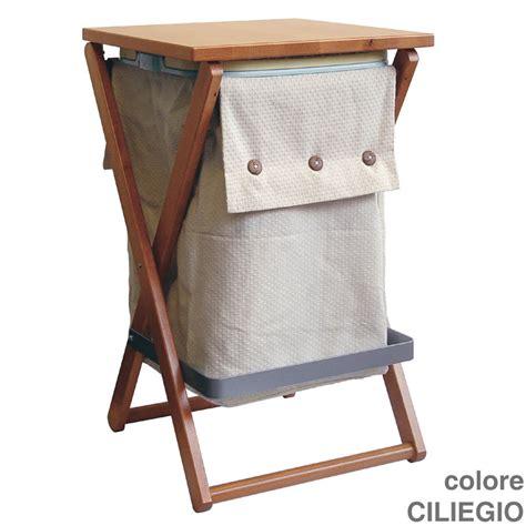 sgabello portabiancheria portabiancheria sgabello 40x39xh64 cm wally in legno di