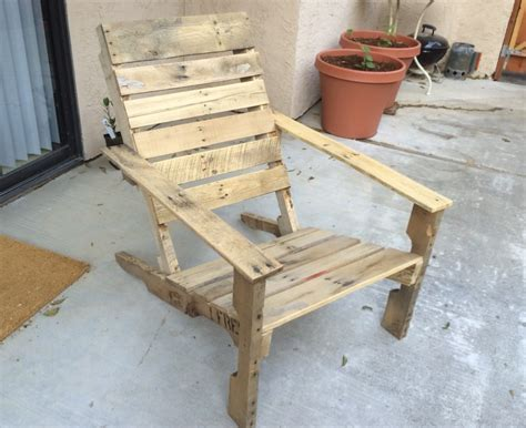 Building A Workshop by Wooden Pallet Patio Chairs Make