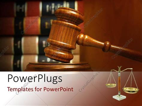 ppt themes related to law powerpoint template judges gavel and balance with law