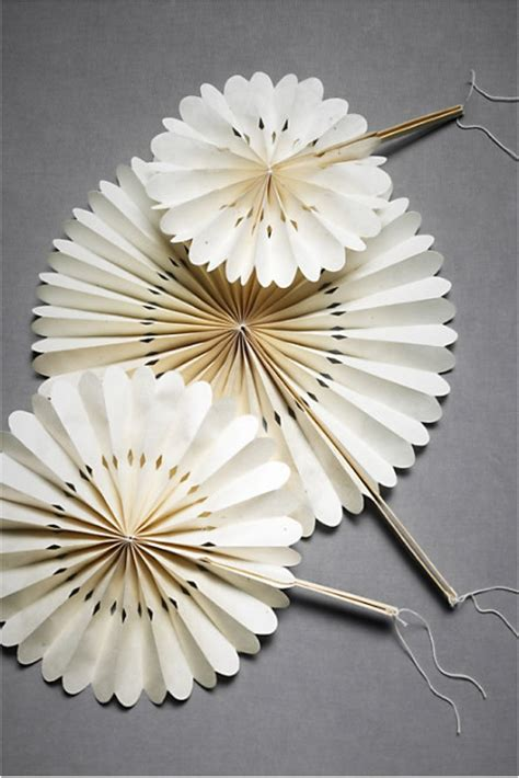 How To Make A Paper Fan For Weddings - wedding ceremony fans from bhldn onewed