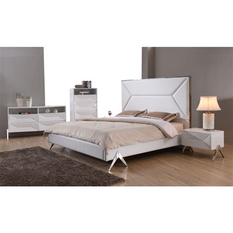 Furniture La by Modrest Candid Modern White Bedroom Set Modern Bedroom Bedroom