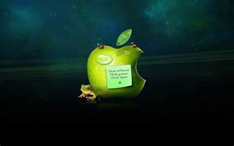 wallpaper apple frog 1280x800 apple logo and frog desktop pc and mac wallpaper