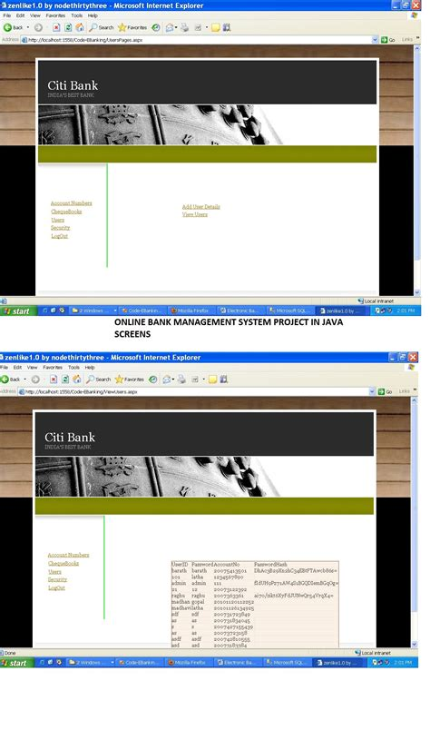 Banking System Project In Java Documentation bank management system project report with source code