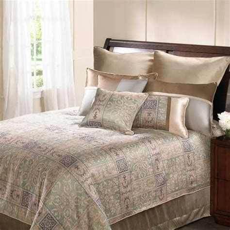 sage green bedding an elegant bed set in gold ivory sage green and taupe