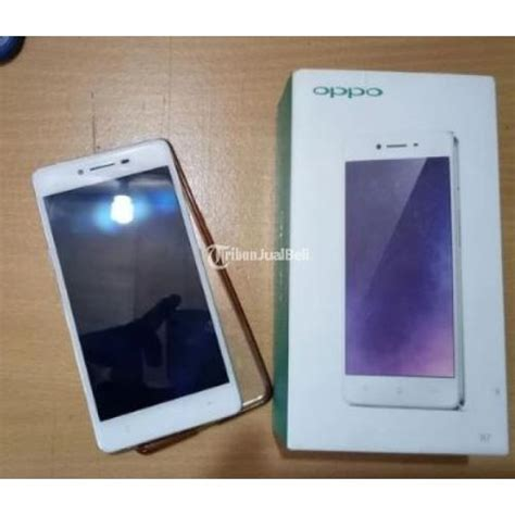 Handphone Oppo Second oppo r7f second ram 3gb dual sim 4g lte warna silver harga