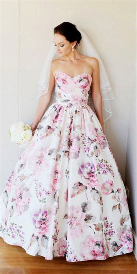 Flower Dresses For Weddings by 25 Best Ideas About Floral Wedding Dresses On