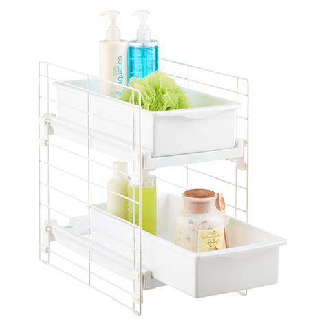 bathroom sink top organizer under sink organizers bathroom cabinet storage organization the container store