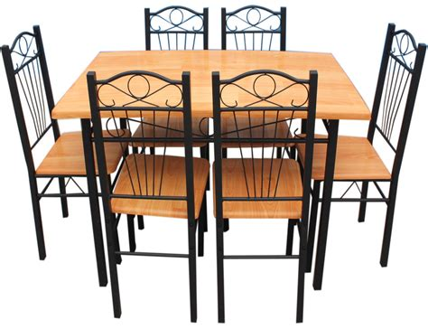 metal kitchen table sets new kitchen dining set with table chairs metal frame wood
