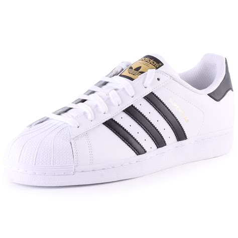 adidas superstar womens leather white black trainers new