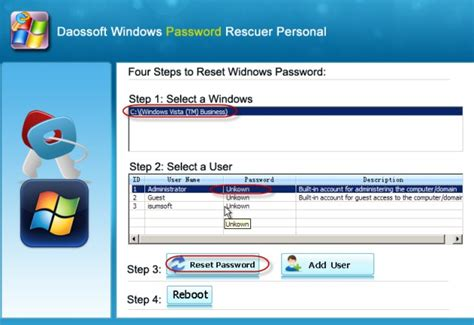 reset pc password vista how to remove logon password from windows vista daossoft