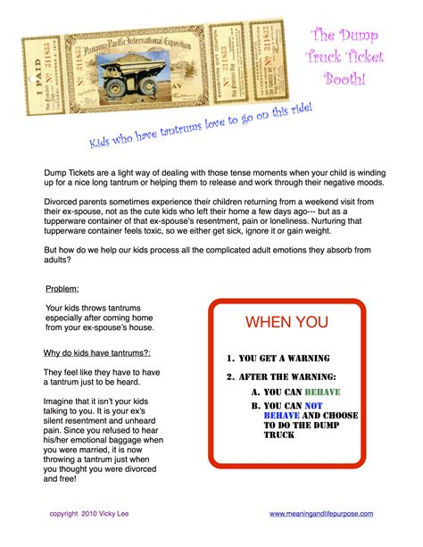 tickets to truck dump truck tickets 1 meaning and purpose