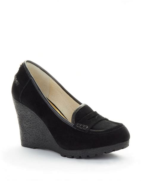 Wedges Cassico Ca 58 michael michael kors rory wedge loafers in black lyst