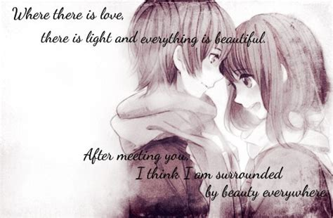 Anime Couple Love Pics Pics For Gt Cute Anime Couples With Quotes