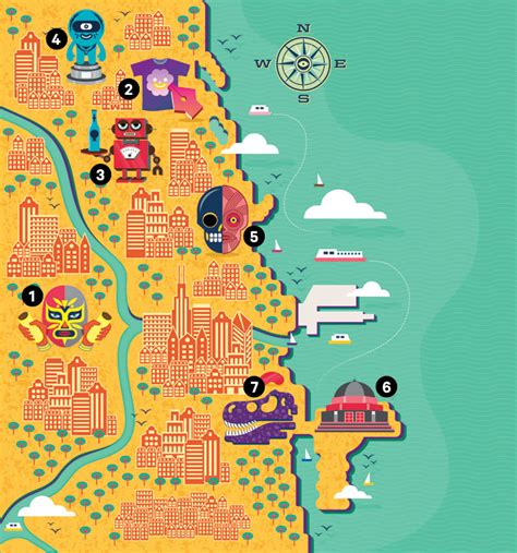 chicago map illustration how chicago is quietly remaking its wired