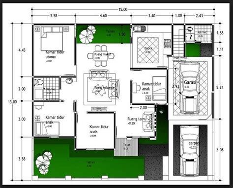 30 contoh denah rumah minimalis 1 lantai rumah minimalis