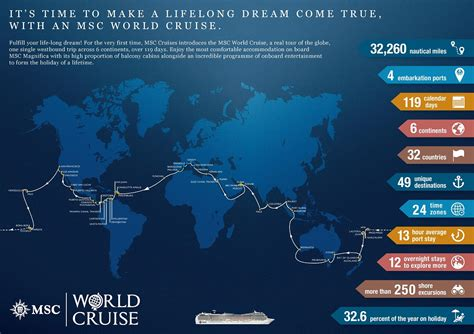 msc cruise around the world msc cruises releases its first ever world cruise world