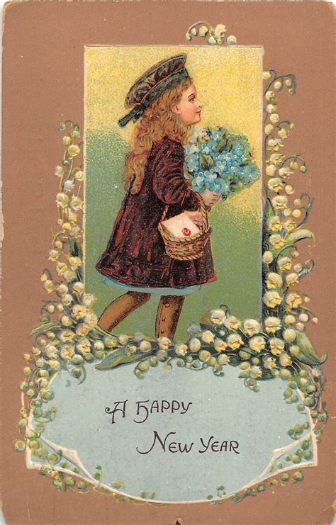 new year postcard 355 best new years vintage cards images on