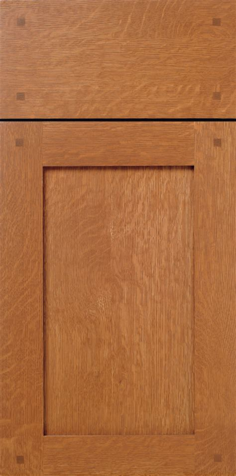 Shaker Quarter Sawn White Oak Cabinet Door with Pegs