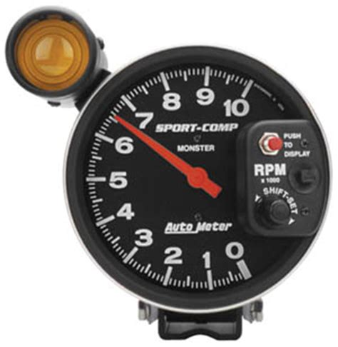 Tachometer Sport Comp 2 5 Shift L Auto Meter auto meter sport comp 5 quot 10 000 rpm tach w shift light mustangs plus buy mustang