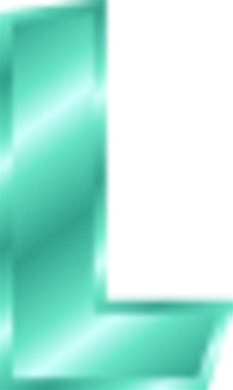 alphabet letter l vector clip