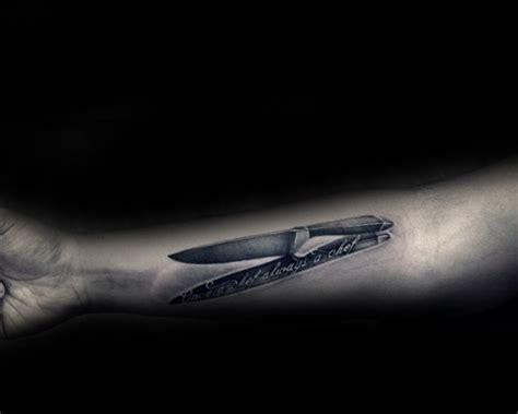 60 cuchillo chef dise 241 os de tatuajes para los hombres