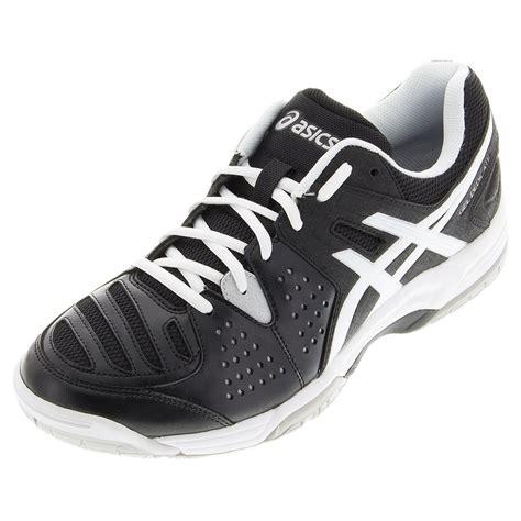s gel dedicate 4 tennis shoes black and white