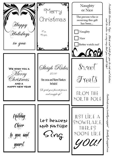 Free Printable Christmas Tags Black And White | sweetly scrapped free printable christmas tags