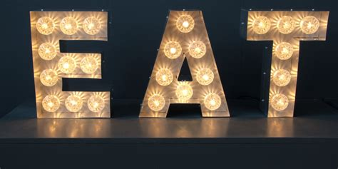 eat light up letters