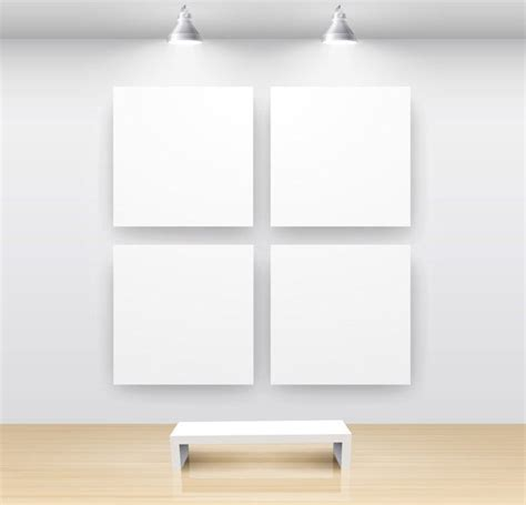 Template Gallery by Exhibition Gallery Template Vector 1 Free Vector In
