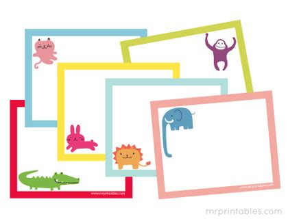 printable blank note cards free animals printable note cards mr printables