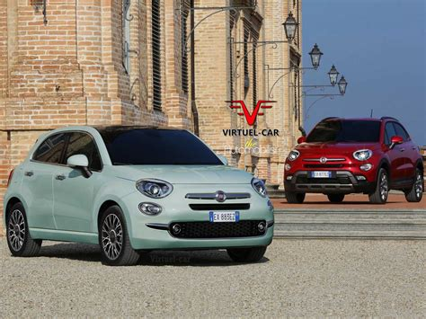 futuristic doors fiat 500 cinqueporte rendering previews future 5 door