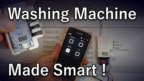 a washing machine smart home automation mqtt