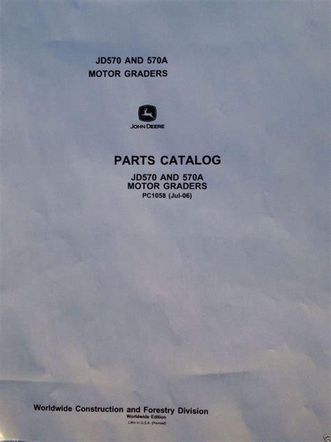 john deere jd   motor grader parts manual catalog book pc finney equipment  parts