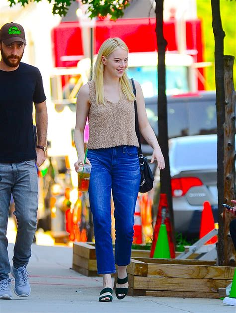 emma stone on the set of the new tv show maniac in emma stone on the set of maniac in new york 08 17 2017