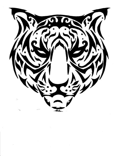 free tiger tattoo designs free rq catty tiger tribal by vlindertje235 on deviantart