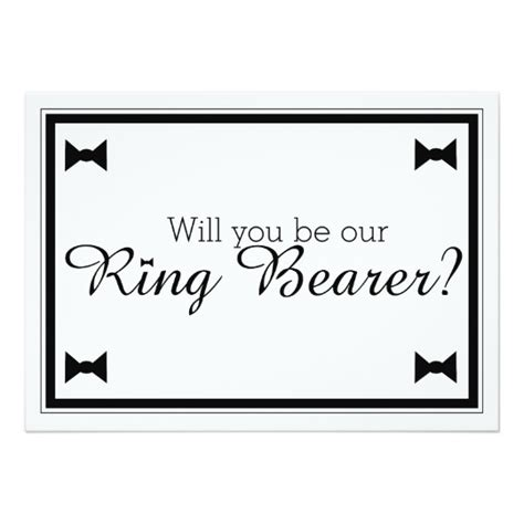 ring bearer card template will you be our ring bearer wedding card zazzle ca