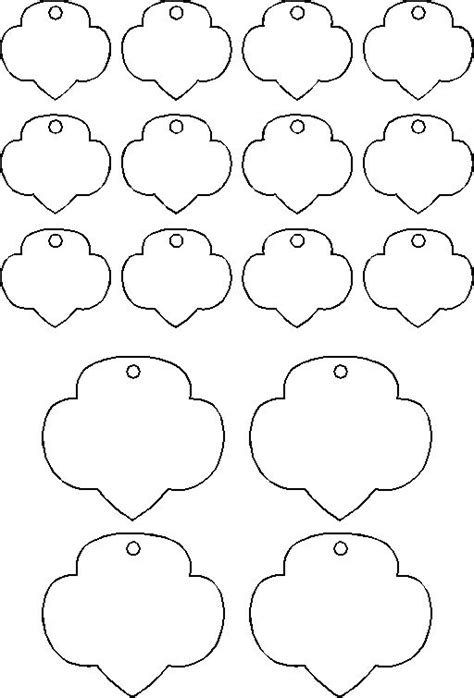 Trefoil Template template for shrinky dink trefoils scout craft or