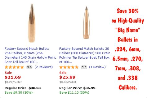 nosler factory seconds blemished products daily bulletin