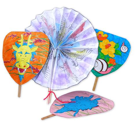 Japanese Paper Fan Craft - krokotak japanese paper fans