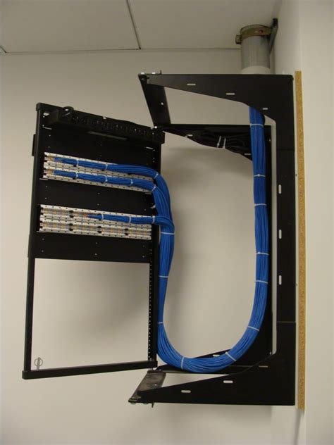 wall mount swing rack cat6 network cabling on swing gate wall mount rack yelp