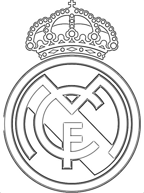 real madrid logo coloring page coloring pages