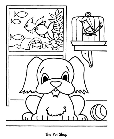 Pet Store Coloring Pages   Coloring Home
