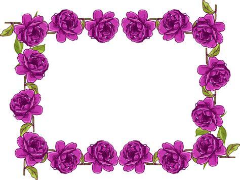 purple borders and frames free digital purple frame