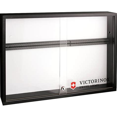 Display Cabinet Lockable by Victorinox Black Locking Magnetic Knife Display Cabinet