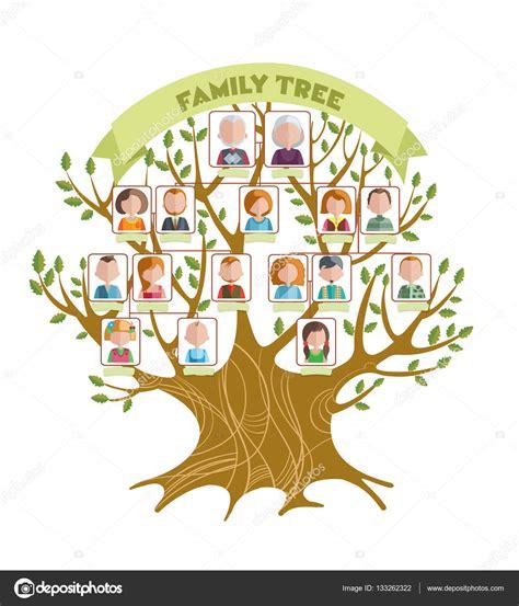 家族树的概念 图库矢量图像 169 Mogil 133262322 Genealogical Tree Concept Family Tree