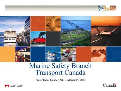 boat registration transport canada ppt marine safety branch transport canada powerpoint